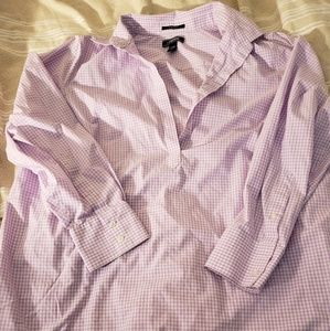 Lands end no iron supima half button down